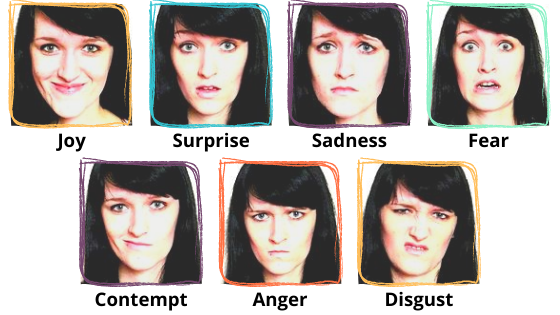 Seven Facial Expressions (Icerko Lýdia, Wikimedia Commons)