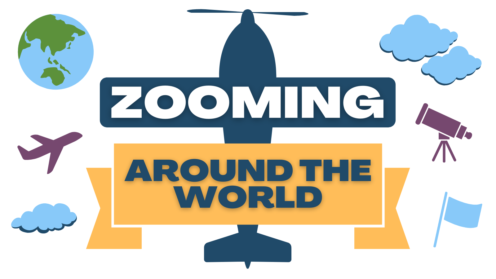 Zooming Around the World Icon
