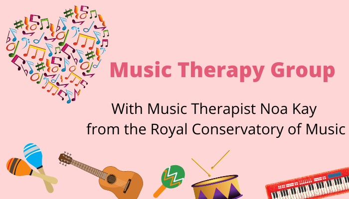 Music Therapy every thursday at 10am